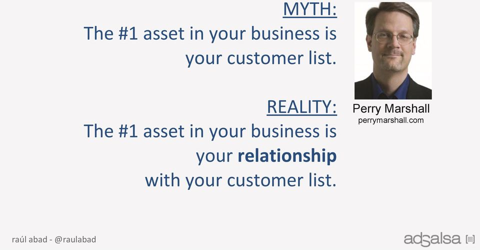 REALITY: The #1 asset in your business is