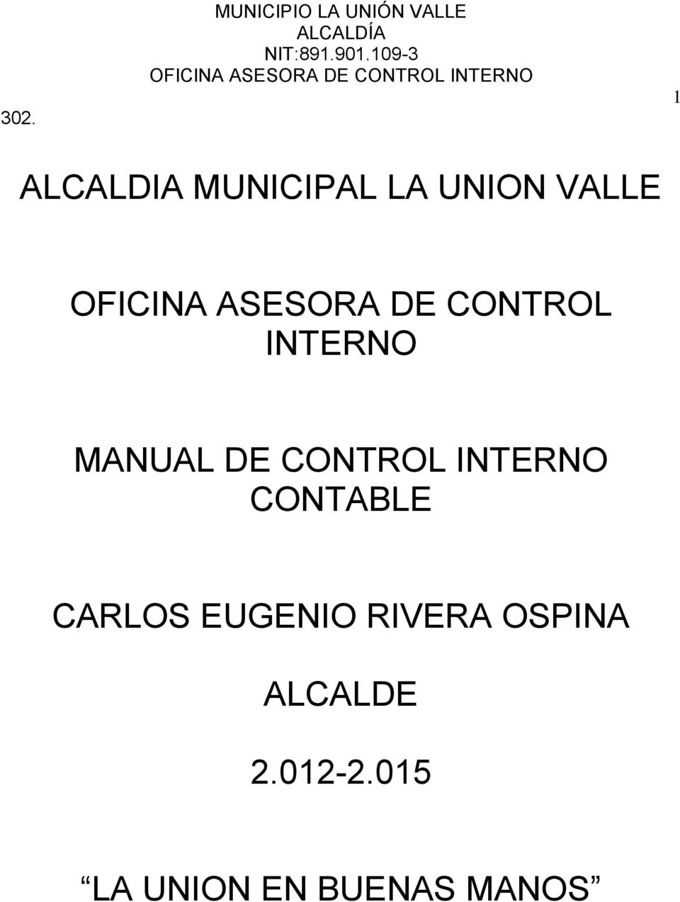 MANUAL DE CONTROL INTERNO CONTABLE CARLOS EUGENIO