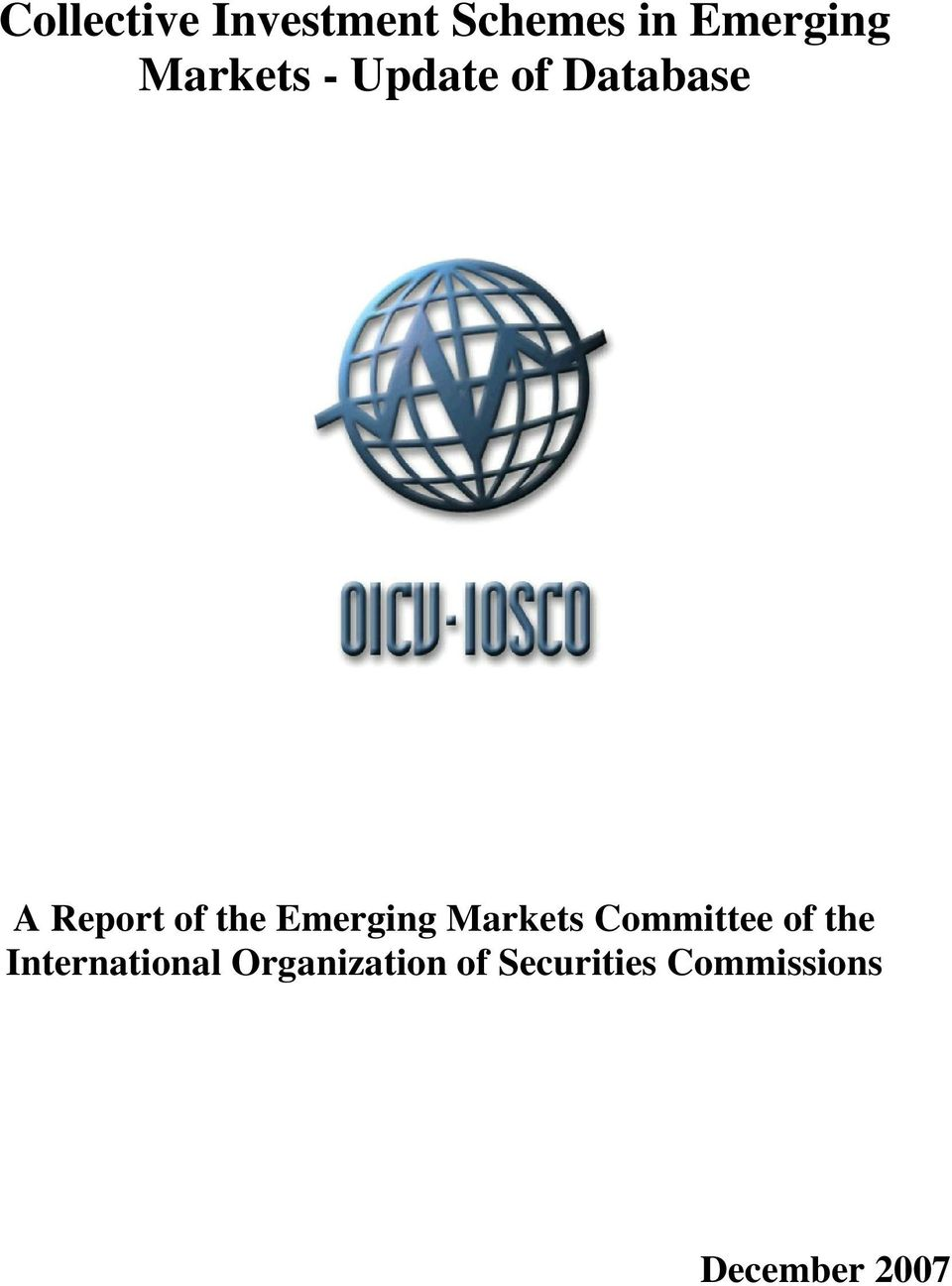 Emerging Markets Committee of the