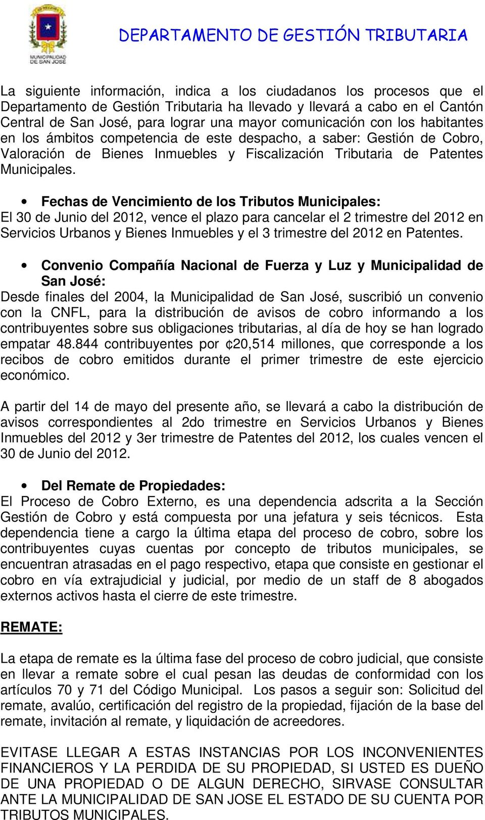 Patentes Municipales.