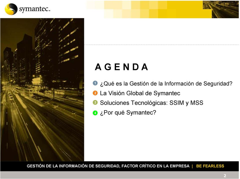 La Visión Global de Symantec