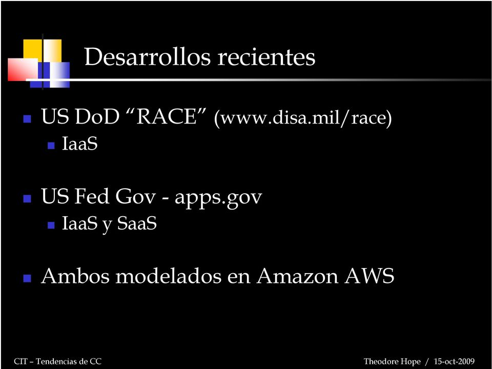 mil/race) IaaS US Fed Gov -
