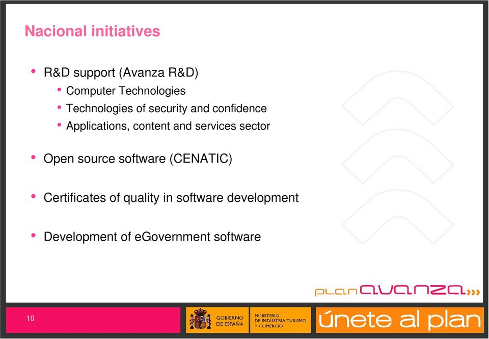 content and services sector Open source software (CENATIC)