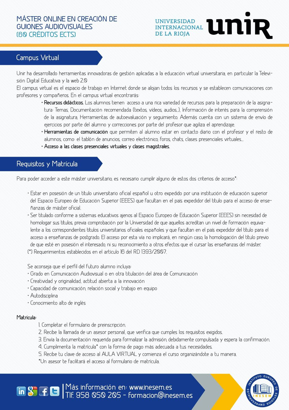 En el campus virtual encontrarás: Recursos didácticos.