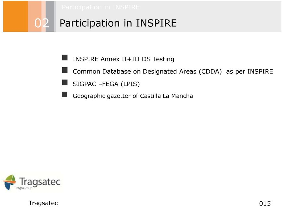 Database on Designated Areas (CDDA) as per INSPIRE