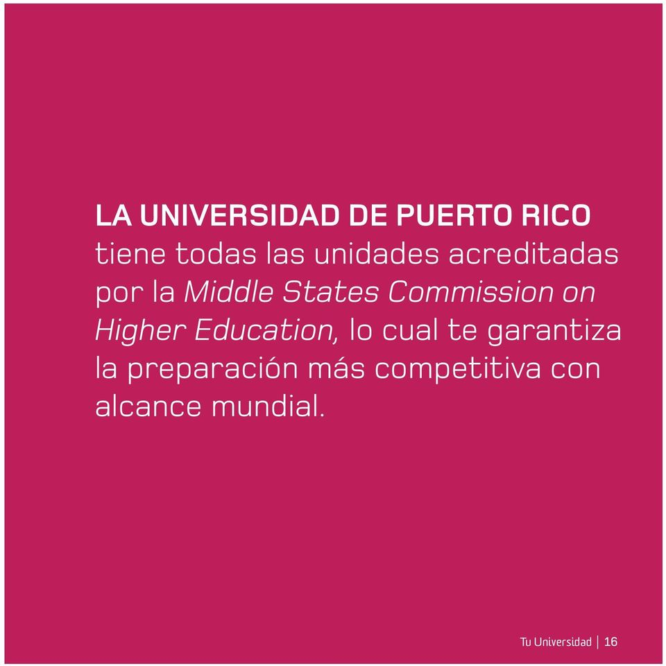 on Higher Education, lo cual te garantiza la