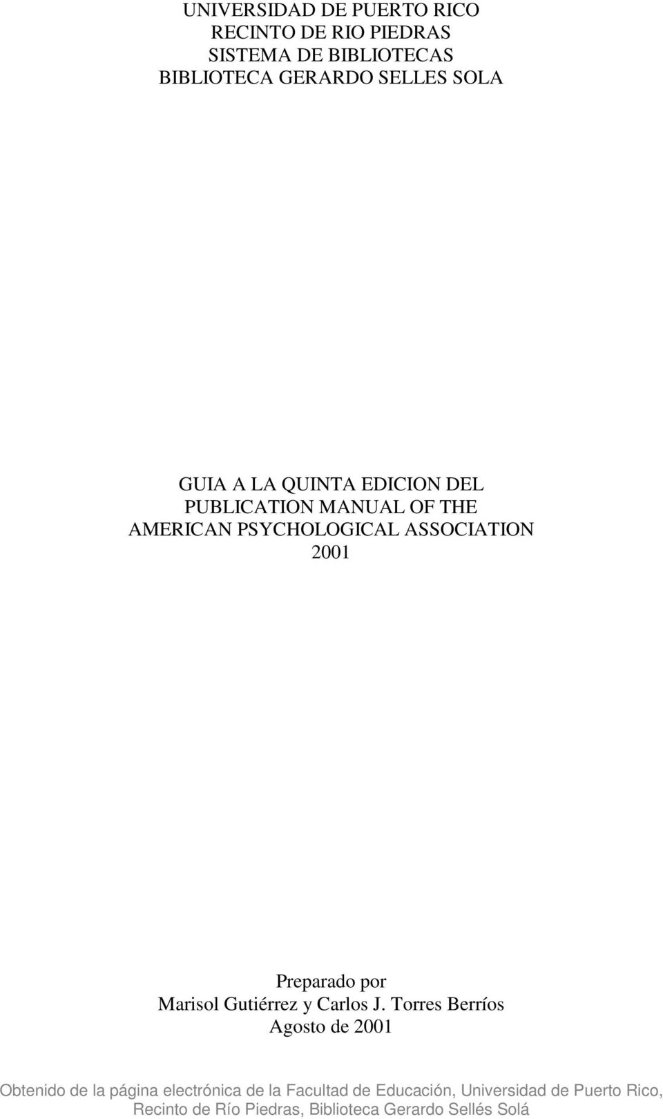 DEL PUBLICATION MANUAL OF THE AMERICAN PSYCHOLOGICAL ASSOCIATION