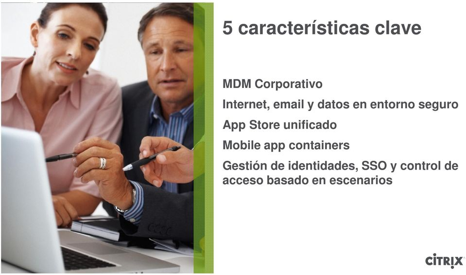 Store unificado Mobile app containers Gestión
