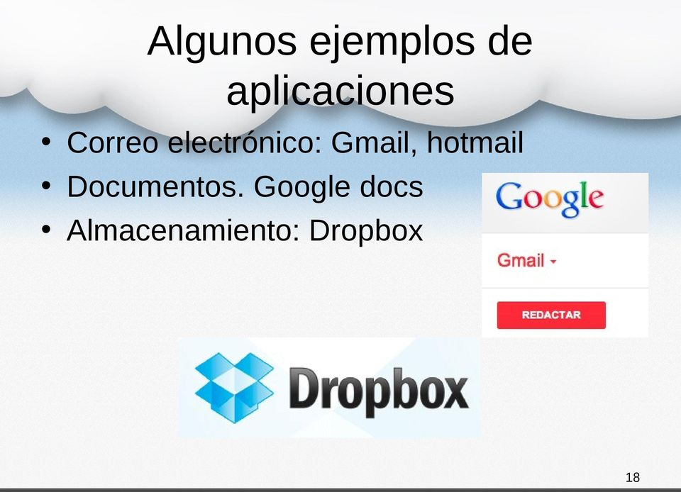 electrónico: Gmail, hotmail