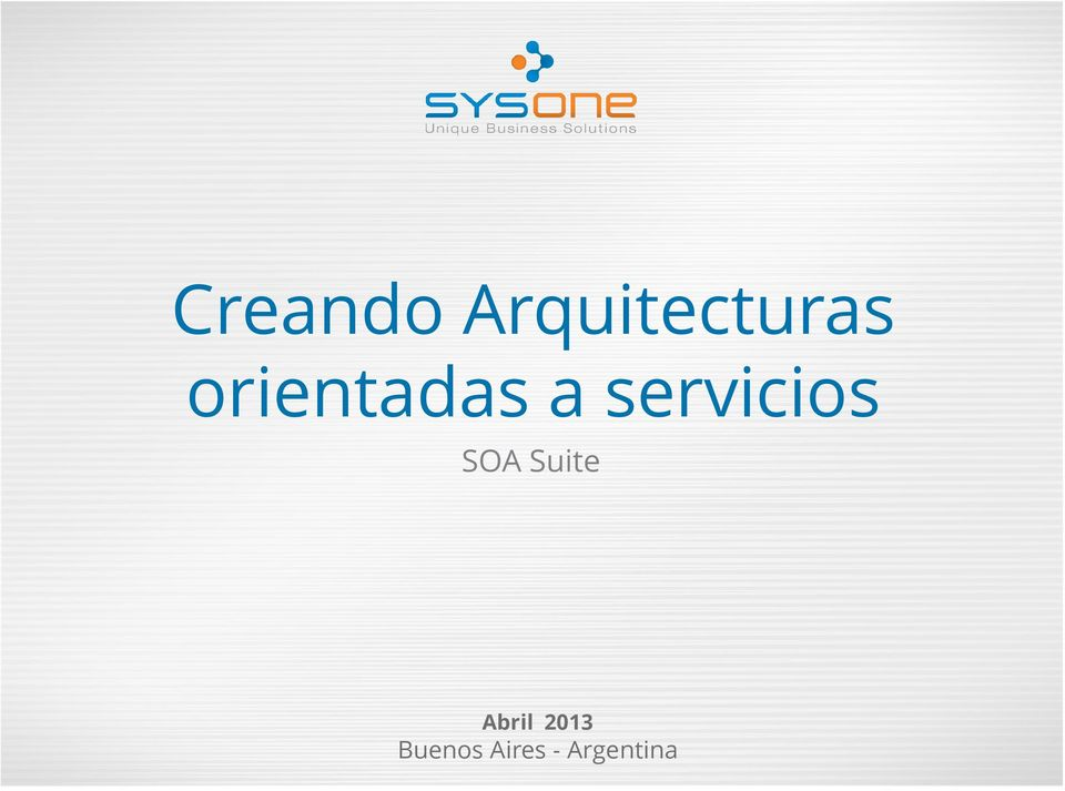 SOA Suite Abril 2013