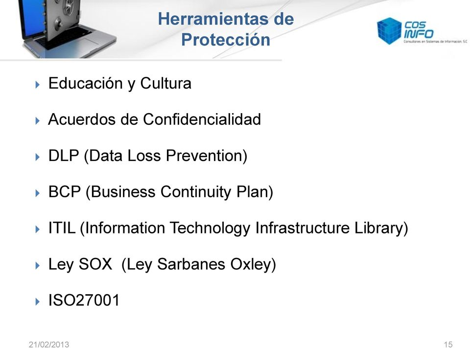 (Information Technology Infrastructure Library) Ley SOX