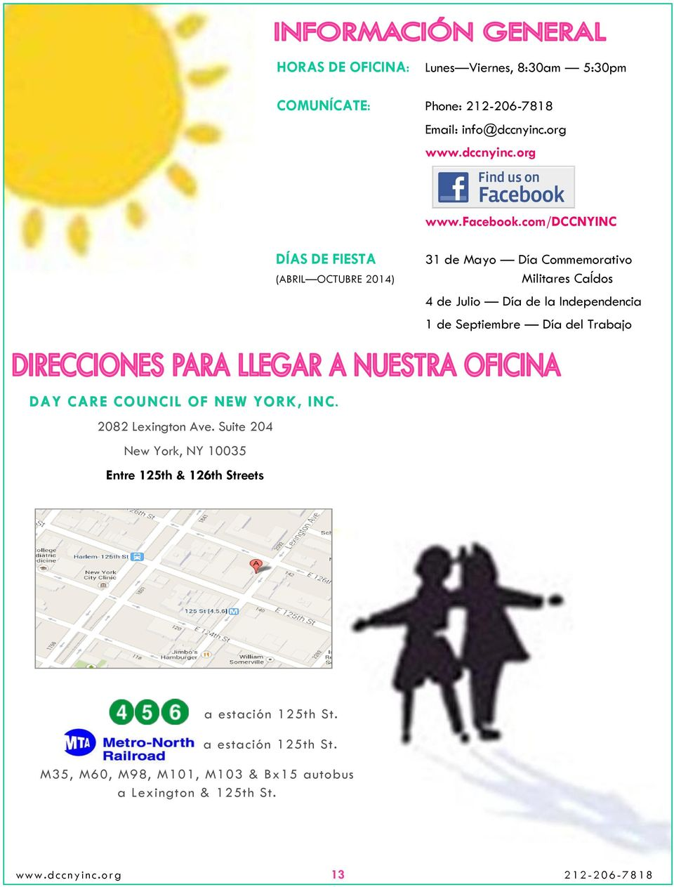 Septiembre Día del Trabajo DAY CARE COUNCIL OF NEW YORK, INC. 2082 Lexington Ave.