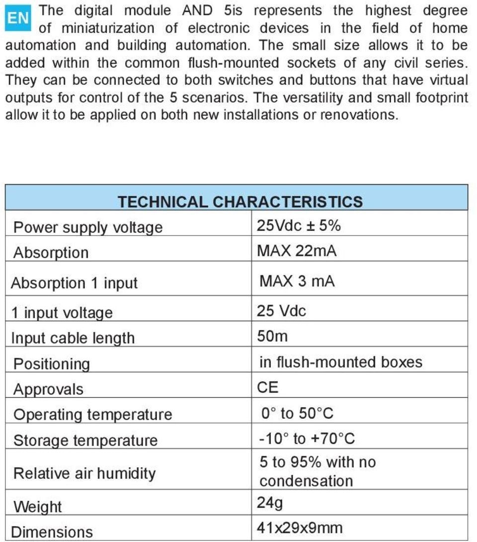 They can be connected to both switches and buttons that have virtual outputs for control of the 5 scenarios.