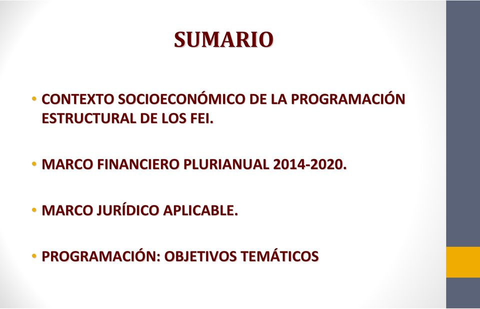 MARCO FINANCIERO PLURIANUAL 2014-2020. 2020.