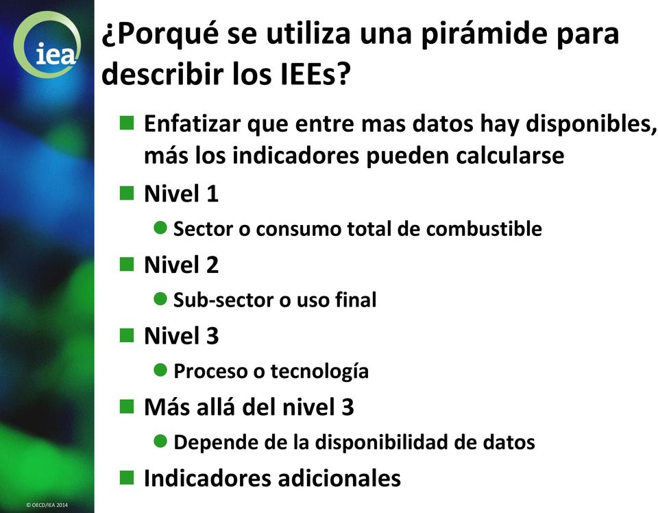 calcularse Nivel 1 Sector o consumo total de combustible Nivel 2 Sub-sector o uso