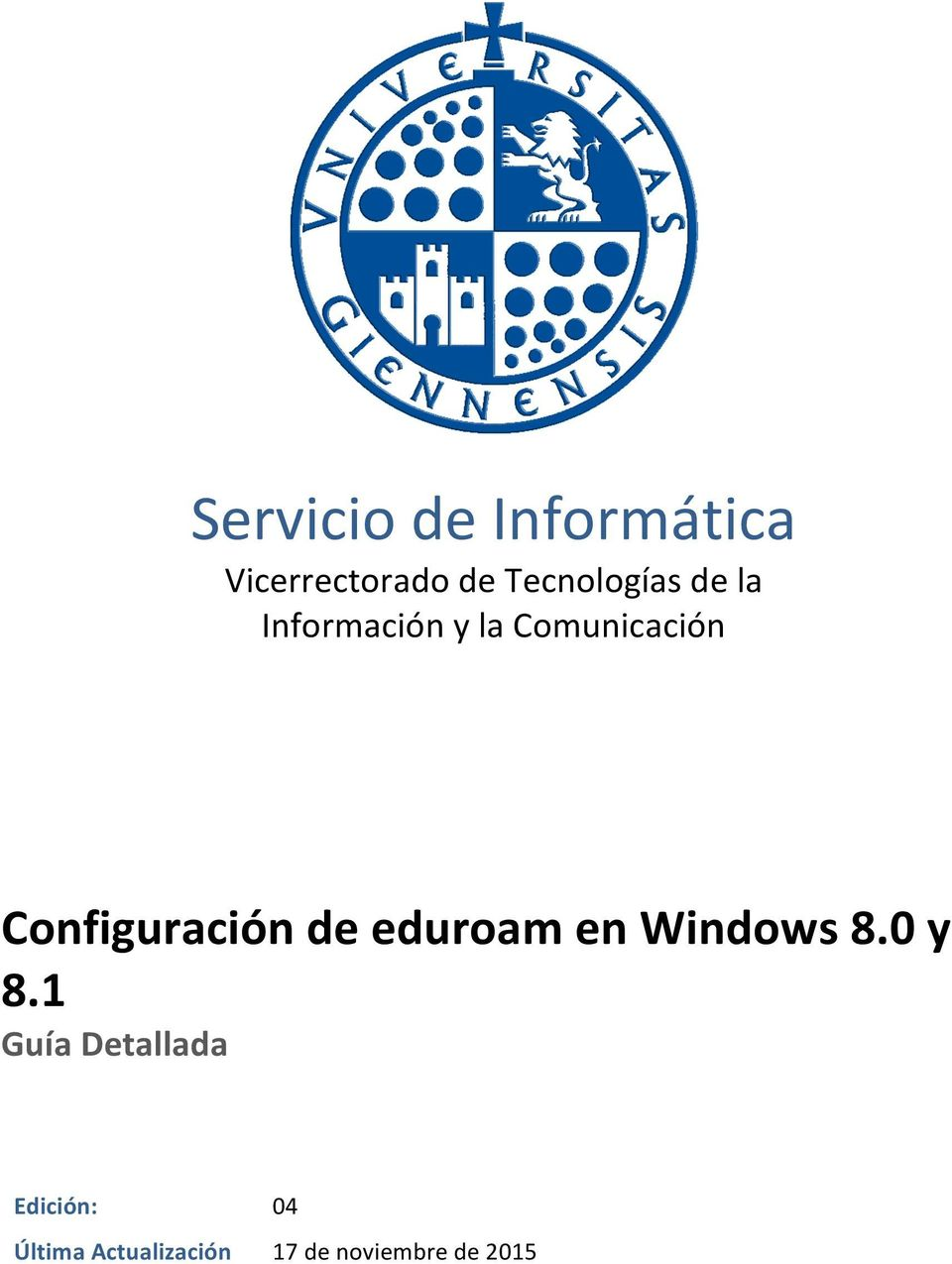 eduroam en Windows 8.0 y 8.