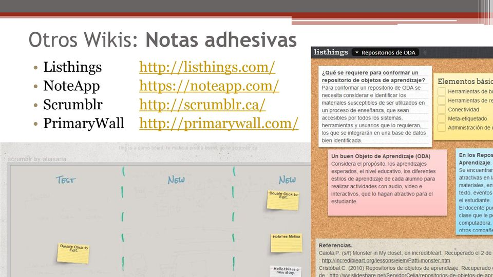 http://listhings.com/ https://noteapp.