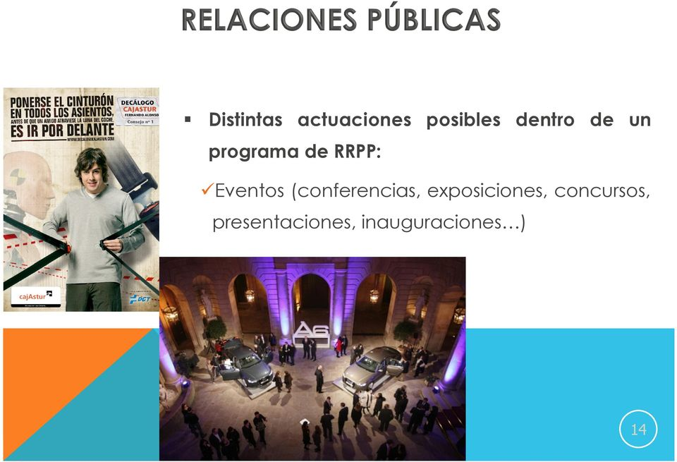 Eventos (conferencias, exposiciones,