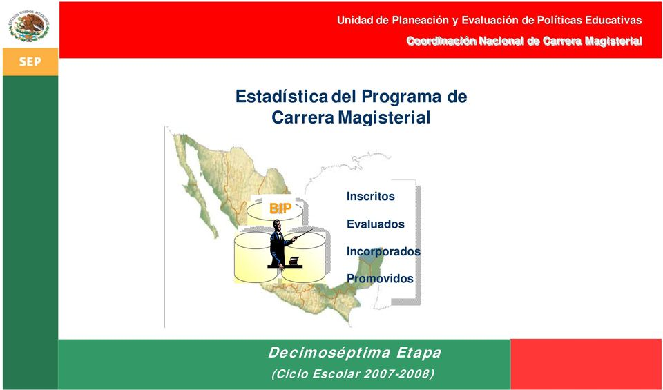 Programa de Carrera Magisterial BIP Inscritos Evaluados