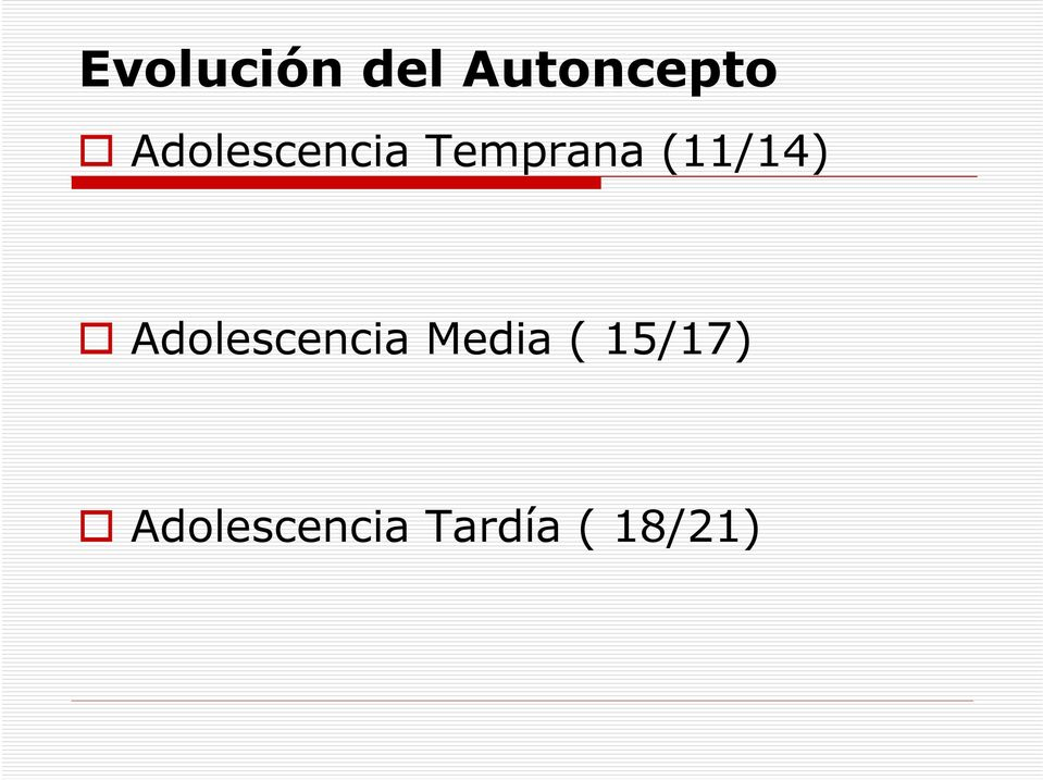 (11/14) Adolescencia Media