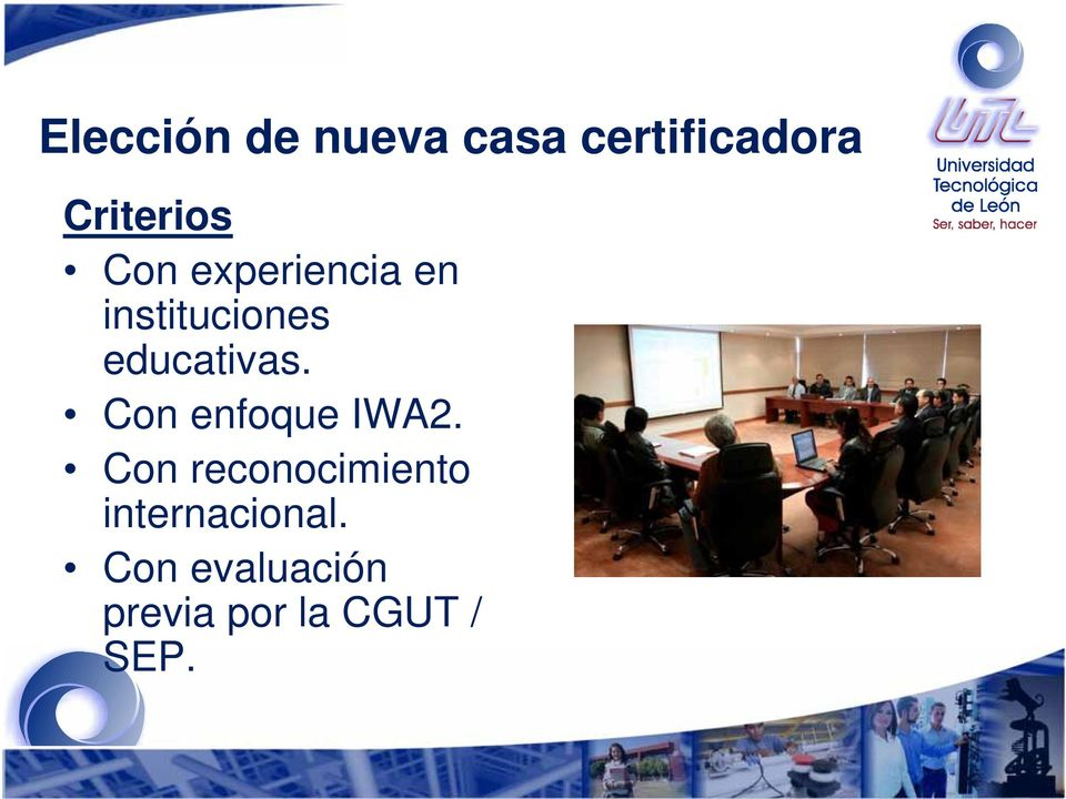 educativas. Con enfoque IWA2.