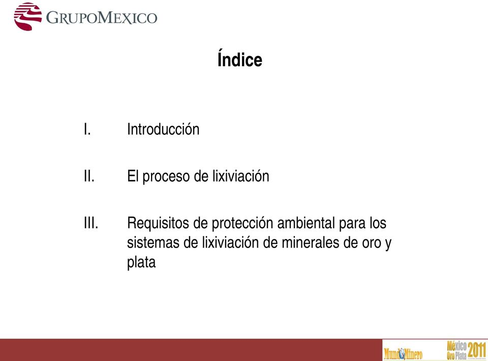 Requisitos de protección ambiental