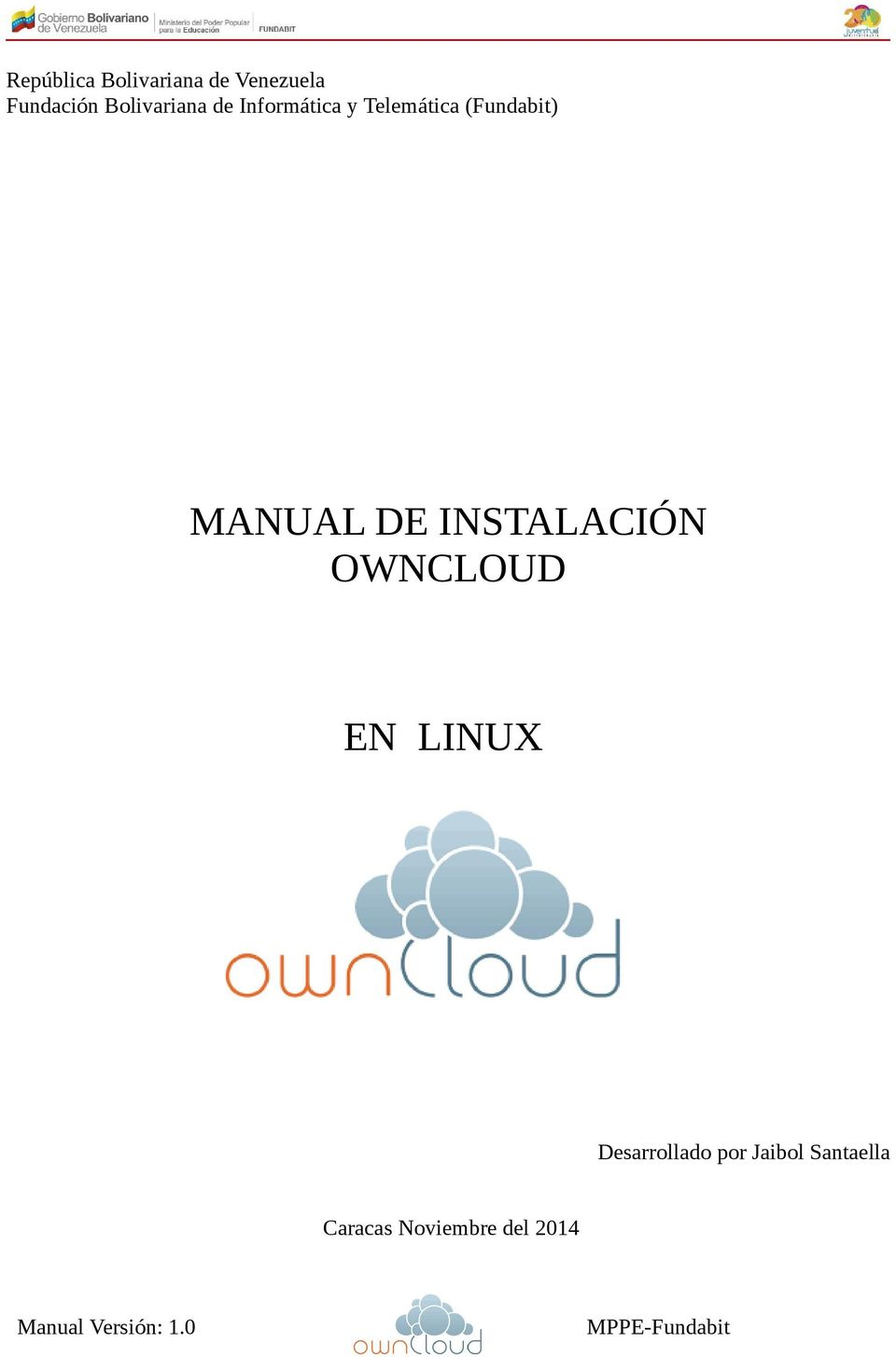 (Fundabit) MANUAL DE INSTALACIÓN OWNCLOUD EN