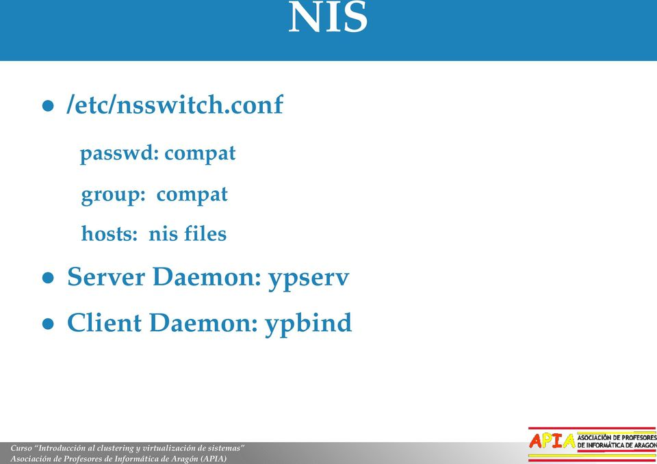compat hosts: nis files
