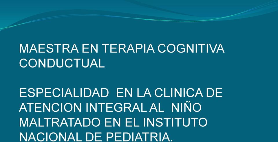 CLINICA DE ATENCION INTEGRAL AL NIÑO