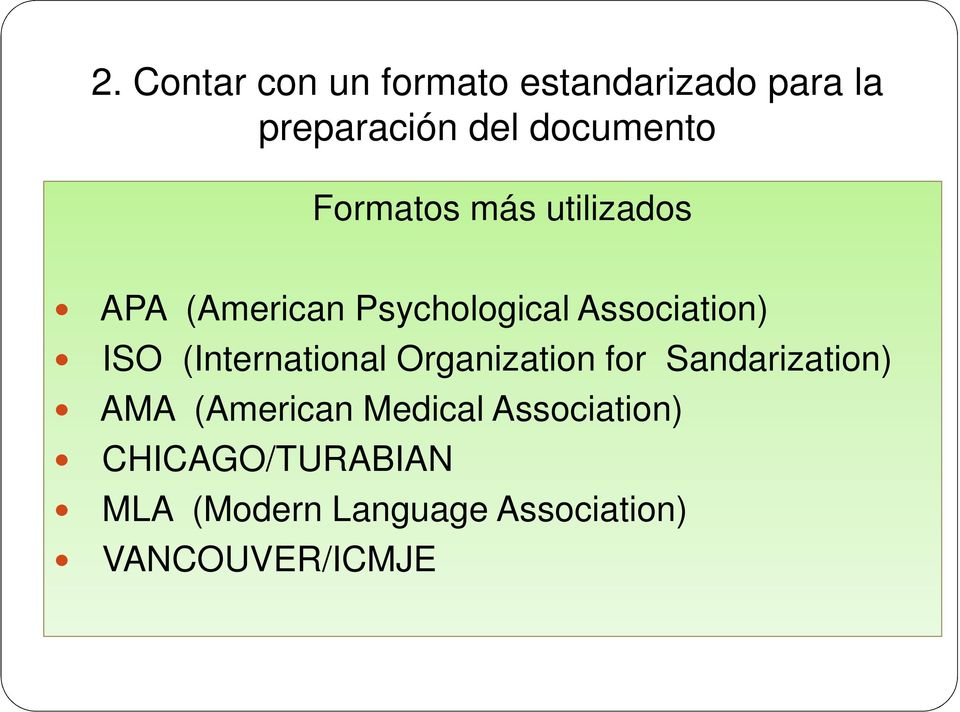 (International Organization for Sandarization) AMA (American Medical