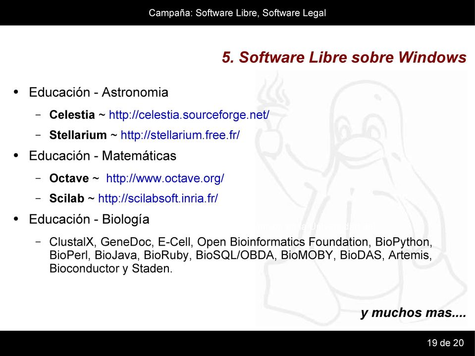 org/ Scilab ~ http://scilabsoft.inria.