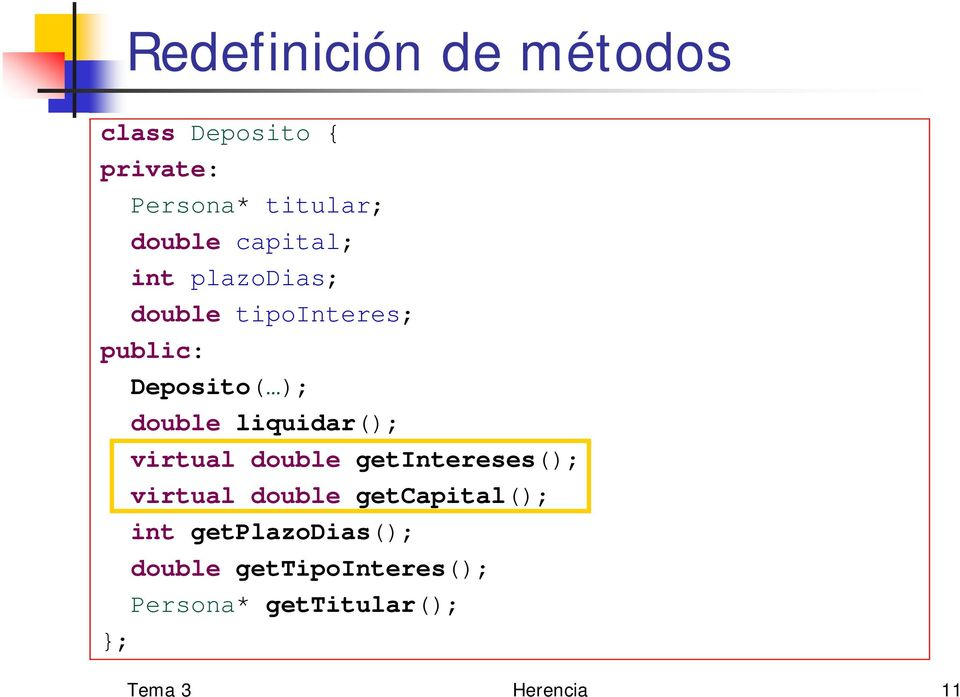 liquidar(); virtual double getintereses(); virtual double getcapital(); int
