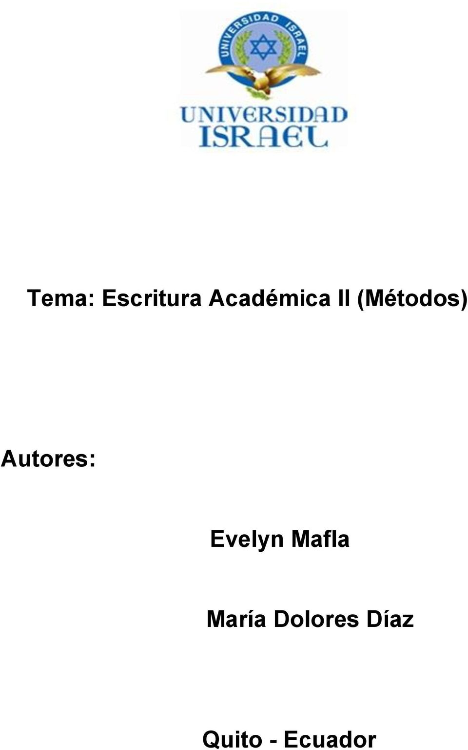 Autores: Evelyn Mafla