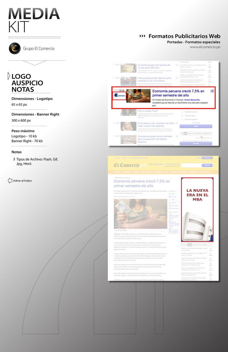 Banner Right 300 x 600 px Logotipo - 10 kb Banner