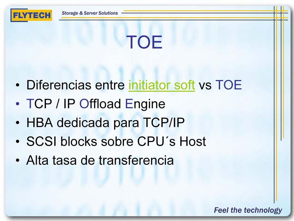 dedicada para TCP/IP SCSI blocks