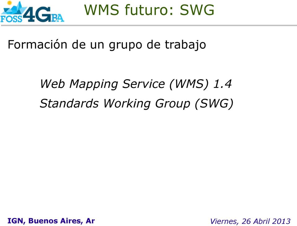 Mapping Service (WMS) 1.