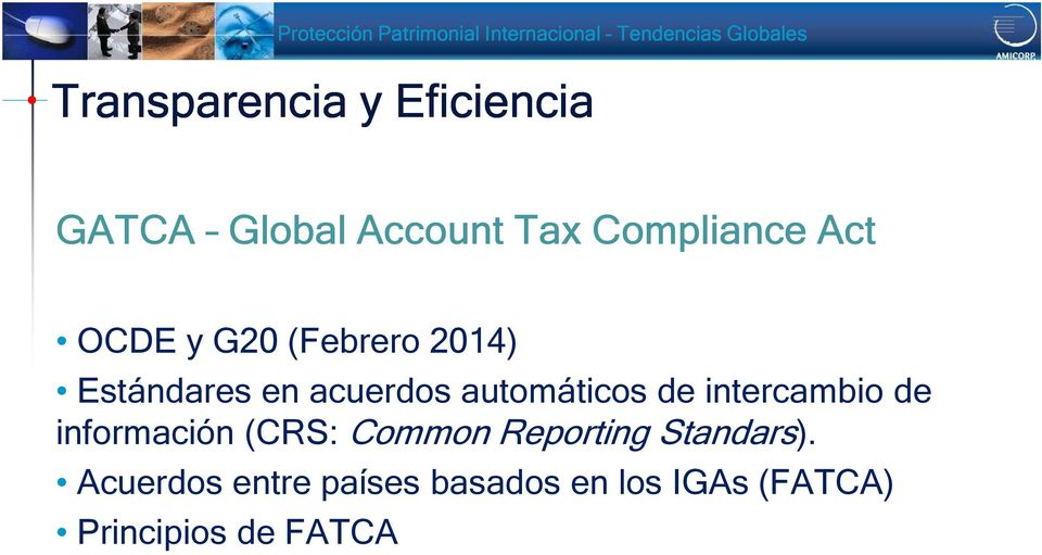 intercambio de información (CRS: Common Reporting