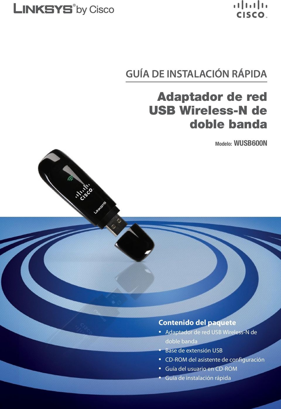 Wireless-N de doble banda Base de extensión USB CD-ROM del asistente