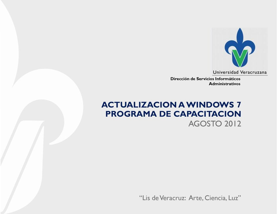 WINDOWS 7 PROGRAMA DE CAPACITACION