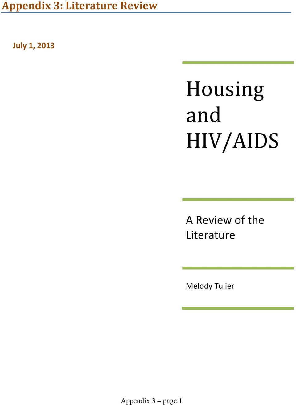 HIV/AIDS A Review of the