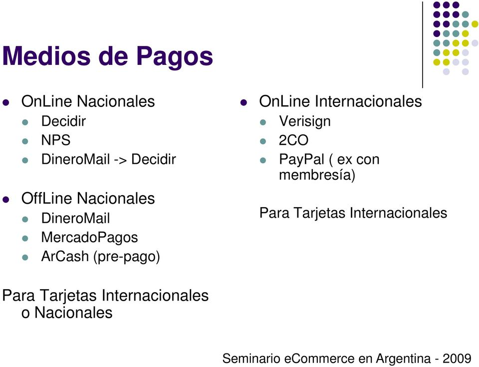 (pre-pago) OnLine Internacionales Verisign 2CO PayPal ( ex con