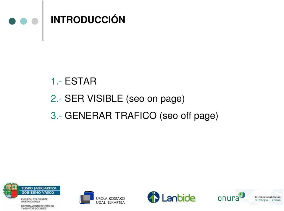 - SER VISIBLE (seo on