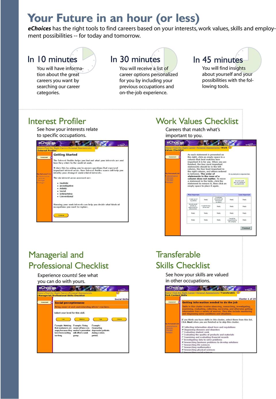 Managerial and Professional Checklist Experience counts! See what you can do with yours.
