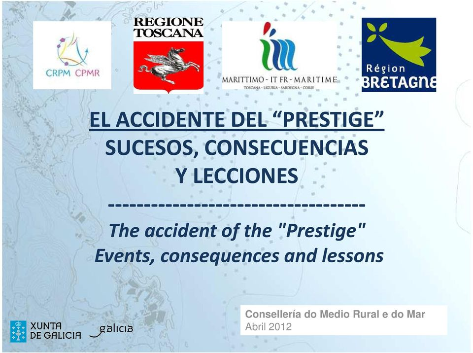 "accident of the ""Prestige"" Events, consequences and"