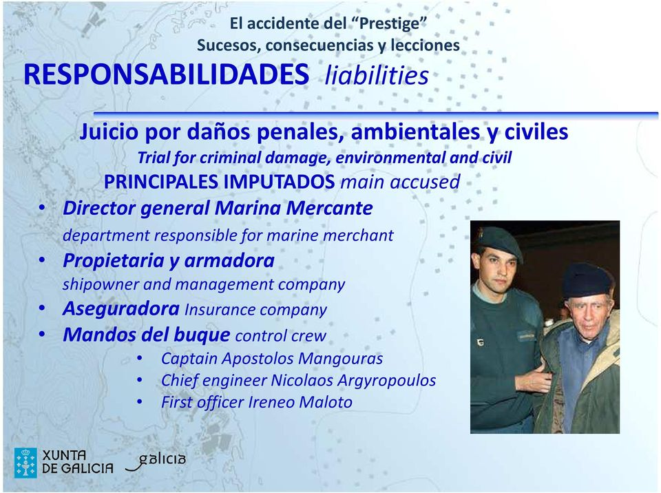 department responsible for marine merchant Propietaria y armadora shipowner and management company Aseguradora
