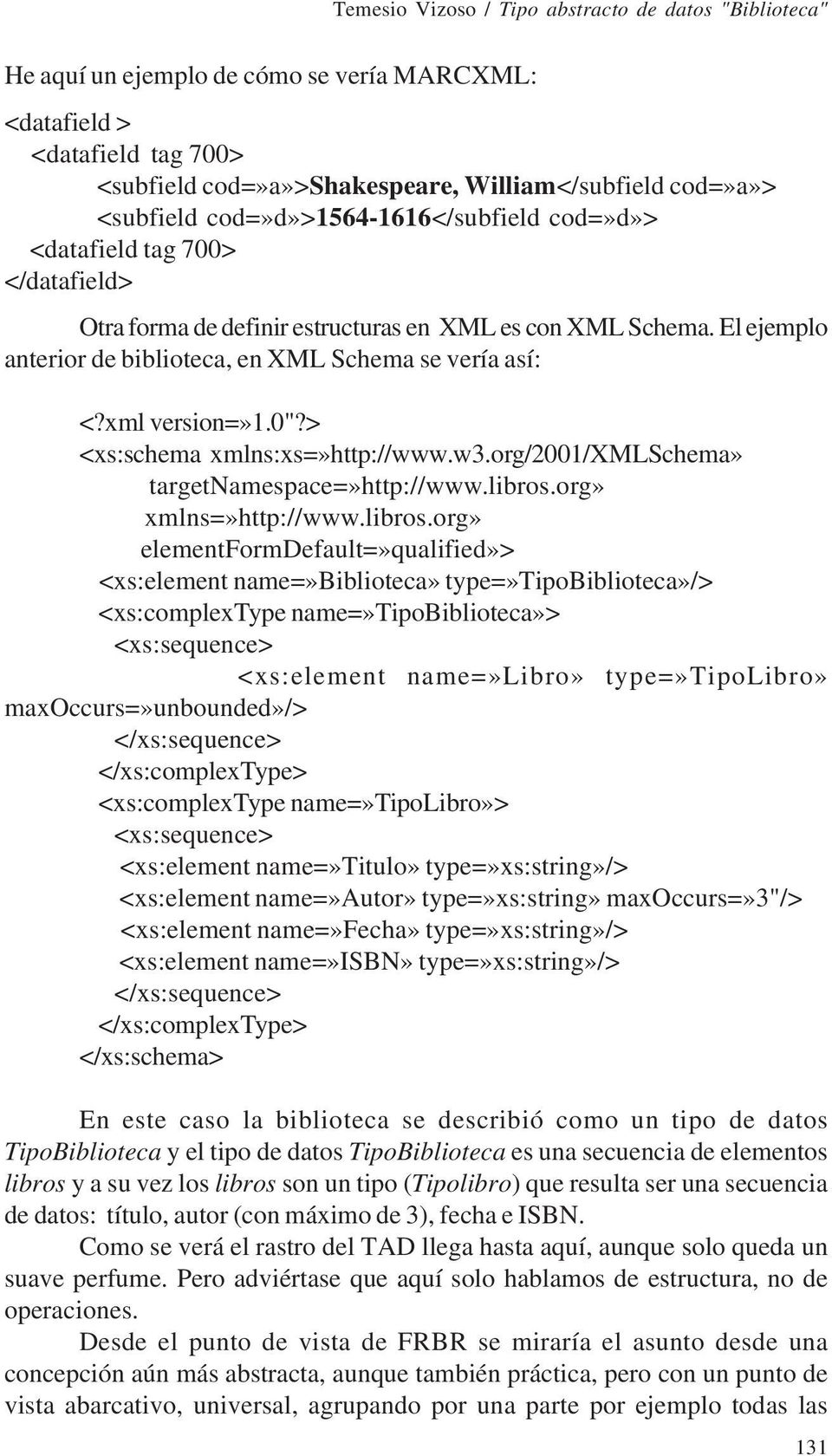 "xml version=»1.0""?> <xs:schema xmlns:xs=»http://www.w3.org/2001/xmlschema» targetnamespace=»http://www.libros."