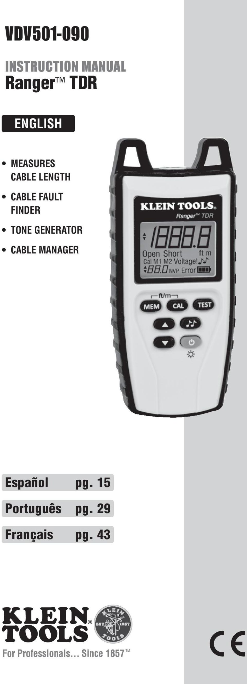 FINDER TONE GENERATOR CABLE MANAGER