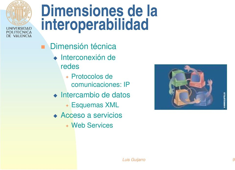 comunicaciones: IP Intercambio de datos