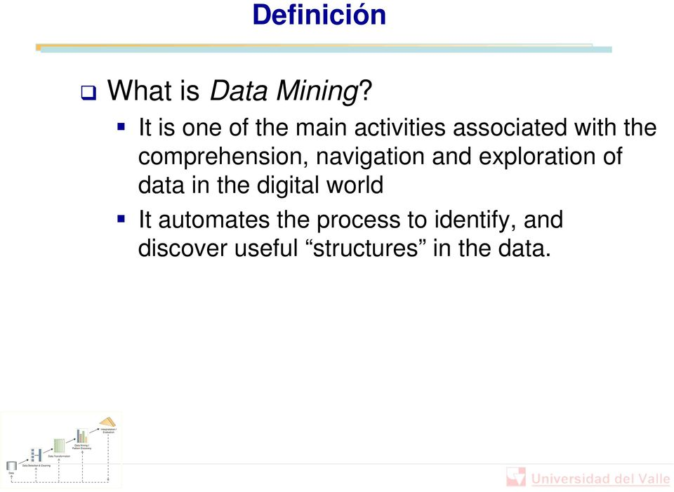 comprehension, navigation and exploration of data in the