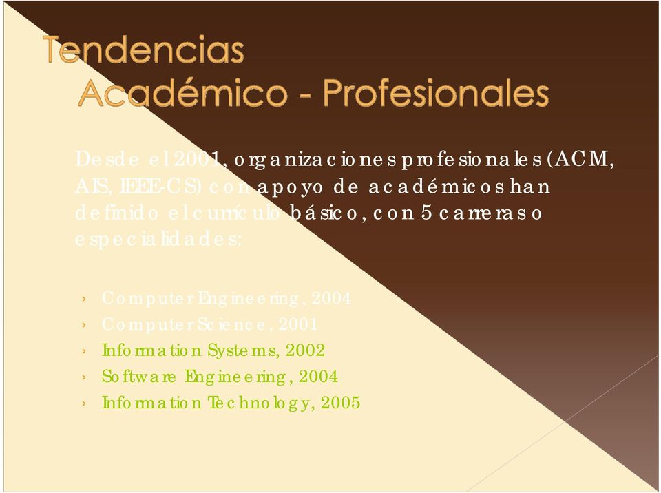 especialidades: Computer Engineering, 2004 Computer Science, 2001